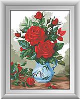 Вышивание камнями Dream Art Красные розы (полная зашивка, квадратные камни) (DA-30301) 51 х 68 см