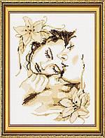 Вышивание камнями Dream Art Влюбленная пара (полная зашивка, круглые камни) (DA-20022) 28 х 37 см