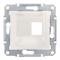 Адаптер для коннекторов 1М AMP MOL КАТ5Е 6 UTP. Слоновая кость Sedna