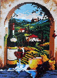 Набор алмазная мозаика Гулівер країна на подрамнике Бургундія (GU_198586) 30 х 40 см (На подрамнике)