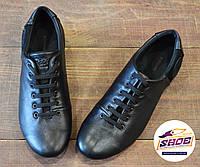 Мужские черные кожаные спортивные туфли Road Style, фото 1