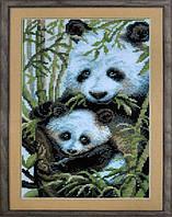 Рисование камнями на холсте Бриллиантовые ручки Дві панди (GU_198617) 48 х 68 см