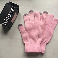 Перчатки iGlove для сенсорных устройств бледно-розовые
