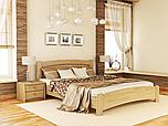 Кровать Венеция Люкс 160 и матрас Эпсилон 101 - Орех темный