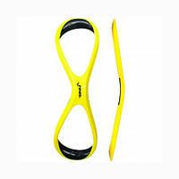 Лопатки-восьмерки для плавания Finis Forearm Fulcrum Sr, пластик, резина, желтый (1.05.028.50)