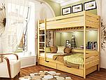 Кровать Дуэт 90 с ящиками и матрас Слим Ролл 102 - Бук