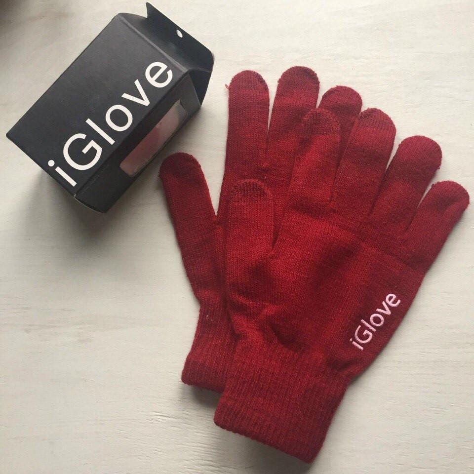 Перчатки iGlove для сенсорных устройств бордовые
