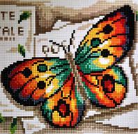 Алмазная вышивка Бриллиантовые ручки (на подрамнике) на подрамнике Веселковий метелик (GU_198732) 20 х 20 см