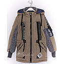Куртка парка жилетка демисезонная на мальчика Даниил размеры 116- 152 , фото 4