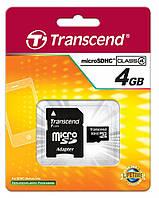 Карта памяти Transcend MicroSDHC 4GB Class4