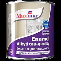 Эмаль алкидная высококачественная по металлу и дереву Maxima (чёрная) 2,8л