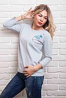 Модная женская трикотажная кофточка 44,46