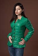 Женская демисезонная куртка. Код модели К-72-12-17. Цвет яркий зеленый.