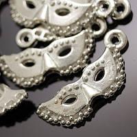 Кулон Маска, Металл, Цвет: Античное Серебро, Размер: 21х8х3мм, Отверстие 2мм, 20 шт (БА000001401)