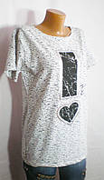 Молодежная футболка La Si Do с декором сердце