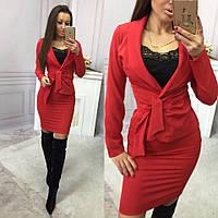 Костюм женский пиджак и юбка в расцветках 14629