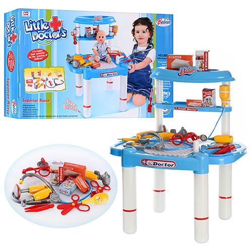 Доктор со столом и инструментами 8шт 008-03