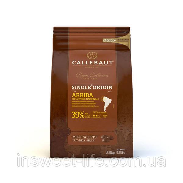 Шоколад молочний CALLEBAUT Arriba CHM-Q415AR-552 39,0% 2,5 кг/упаковка