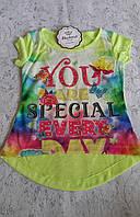 Красивая футболка для девочек 110,116,122,128 роста You