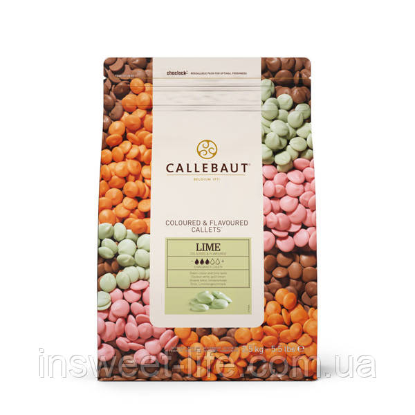Шоколад фруктовый CALLEBAUT LEMON-522 2,5кг/упаковка