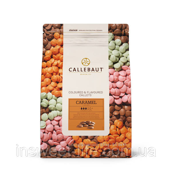Шоколад молочний з карамеллю СALLEBAUT СHF-N348CARA-556 2,5 кг/упаковка