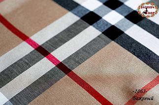 Бежевий стильний шарф двосторонній, фото 3