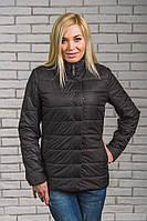 Женская куртка на синтепоне черная, фото 1