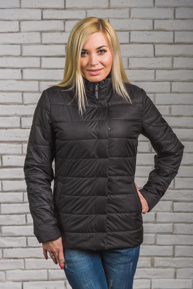 Женская куртка на синтепоне черная