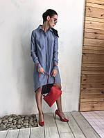 Платье женское, голубое, мультисезон P-AMELIA1-12