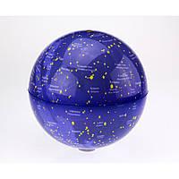 УЦЕНКА_Глобус вращающийся свет.звездное небо 20 см.