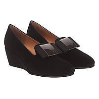 Туфли женские Deenoor (стильные, замшевые, с изысканным бантом, оригинальные, удобные)