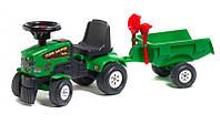 Трактор каталка с прицепом FALK 1081C BABY FARM MASTER