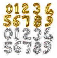Воздушный шар воздушные шары цыфры цифры цифра золотые и серебрянные поштучно
