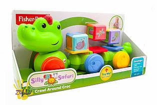 Крокодил с кубиками Fisher price Silly Safari Crawl Around Croc