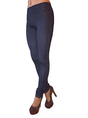 Женские лосины под джинсы синие, фото 2