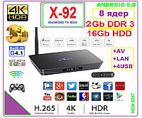 X92  Android TV BOX 8 ядер  2gb DDR3 16gb +ANDROID 6 +НАСТРОЙКИ I-SMART