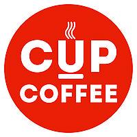Стаканчик 175гр. уплотнённый. чёрный с лого Cup-coffee.