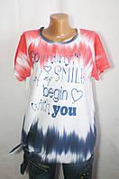 Модная разноцветная футболка на каждый день