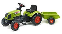 Дитячий трактор на педалях з причепом Falk 2040A Claas Arion 410
