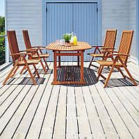 Комплект мебели садовой из дерева  (4 кресла и стол раскладной большой)