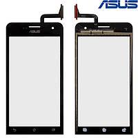 Touchscreen (сенсорный экран) для Asus ZenFone 5 Lite (A502CG), оригинальный (черный)