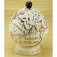Бар глобус - набор керамика 8 предметов, белый