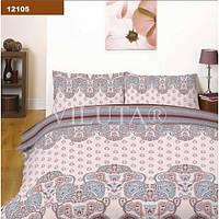 Комплект постельного белья Вилюта ранфорс Platinum двуспальный Евро 12105
