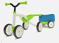 Велобег с прицепом Quadie зеленый Chillafish (CPQT01LIM)