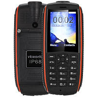 "Ударопрочный телефон Vkworld Stone V3 Max IP68 black-orange оранжевый (2SIM) 2,4"" 1,3 Мп оригинал Гарантия!"