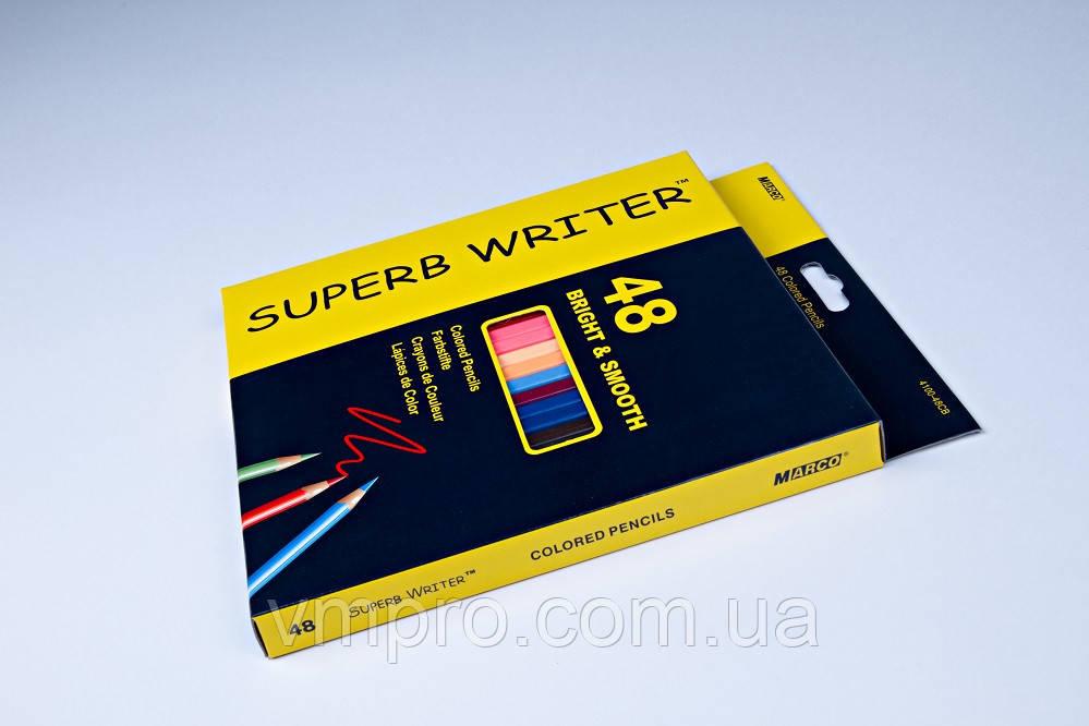"Карандаши цветные ""MARCO"" Superb Writer,№4100-48CB (48 цветов)"