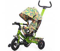 Велосипед трехколесный с надувными колесами Tilly Trike Зеленый