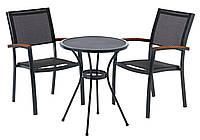 Комплект садовой мебели из метала (2 кресла и круглый столик металлический )