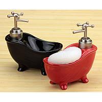 Ванна - дозатор с мочалкой,3 цвета