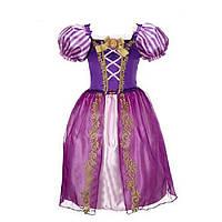Платье принцессы Рапунцель для девочек 4-7 лет